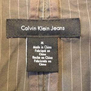 Calvin Klein Suits & Blazers - Men's Calvin Klein brown/gray striped blazer